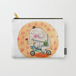 Elephant in love Carry-All Pouch
