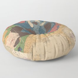 Vintage United States Geological Map (1872) Floor Pillow