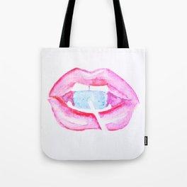 Neon Lolli Lips Tote Bag