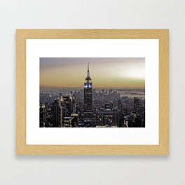 NYC City Scape - New York Photography Framed Art Print