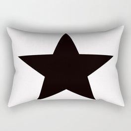 White Background - Black Star Rectangular Pillow