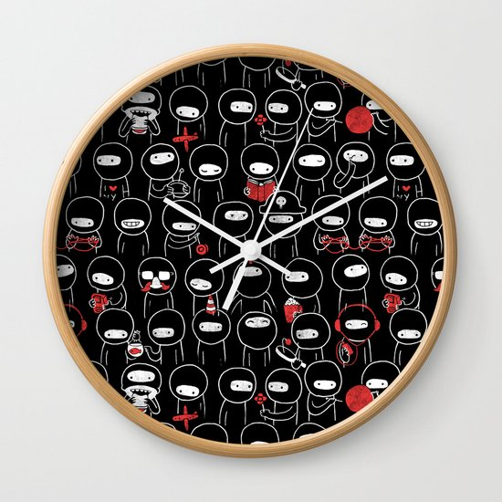 Procrast-Ninjation Wall Clock