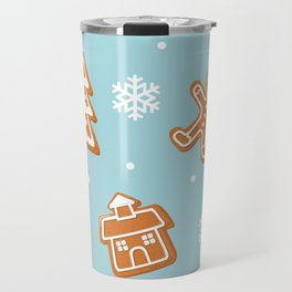 Gingerbread Cookies & Snowflakes Travel Mug