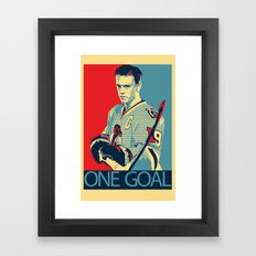 Towes One Goal Framed Art Print