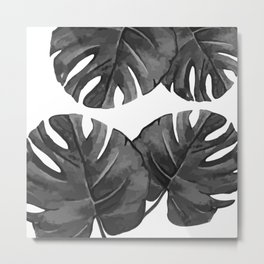 Palm Cuts (Black & White) Metal Print