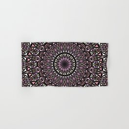 Pink Mosaic Window Mandala Hand & Bath Towel