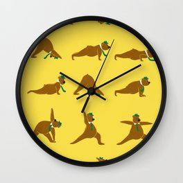 Yoga Bear - Classic Wall Clock