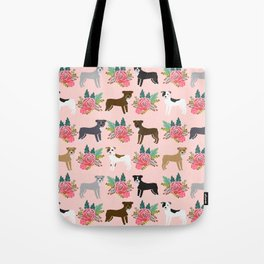 Pitbull Terrier flowers cute dog art pet portraits custom dog breed must have pitbull owner gifts Tote Bag