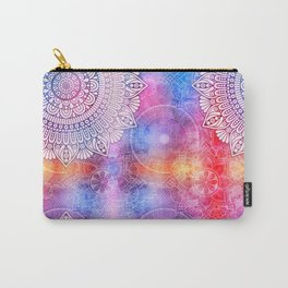 Modern Abstract Mandala Flower Carry-All Pouch