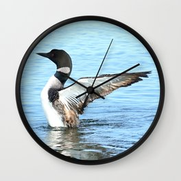 Loon Breach Wall Clock