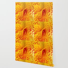 Yellow Flower With Red Spots Wallpaper
