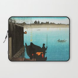 Sanbashi Bridge in Fukugawa at Night Laptop Sleeve