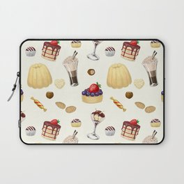 Sweet pattern with various desserts. Laptop Sleeve