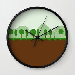 Tree Line Wall Clock