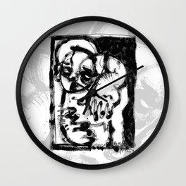 Lonesome Saint - b&w Wall Clock