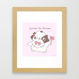 """Japanese chin Mochio """"RIBBON PRINCESS ANMITSU"""" Framed Art Print"""
