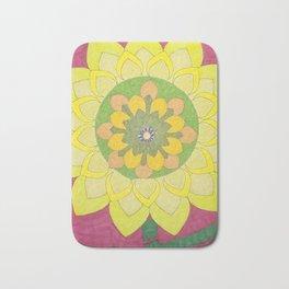 Flower of My Sun Bath Mat