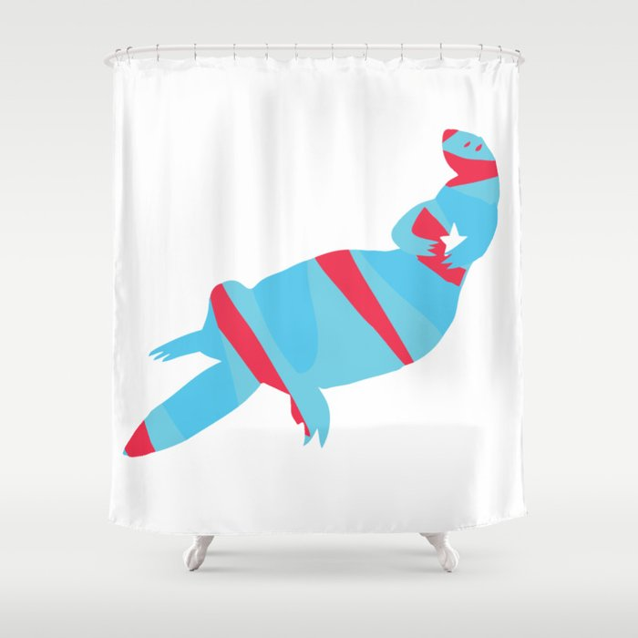 Psychedelic Otter Shower Curtain By Lucashug