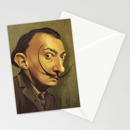SALVADOR DALI ROYAL CARICATURE Stationery Cards