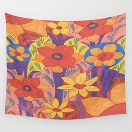 Sunshine and Wildflowers Wall Tapestry