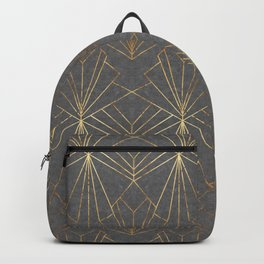 Art Deco in Gold & Grey Backpack
