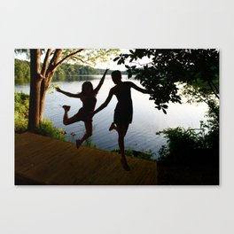 Jumping Canvas Print