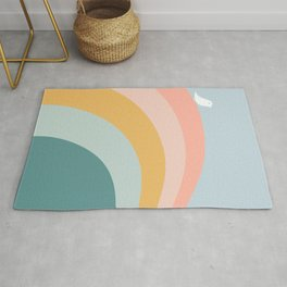 boho rainbow in soft & trendy colors, minimalism Rug