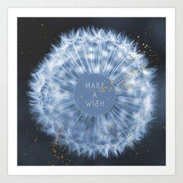 Make A Wish Dandelion Art Print
