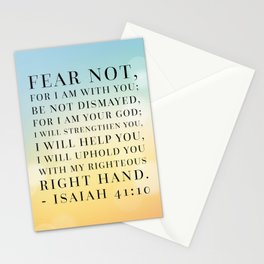 Isaiah 41:10 Bible Quote Stationery Cards