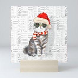 Scottish Fold Christmas Cat Mini Art Print