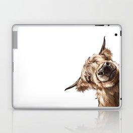 Sneaky Highland Cow Laptop & iPad Skin