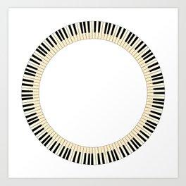 Pianom Keys Circle Art Print