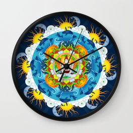 Shiva's Stillness Wall Clock