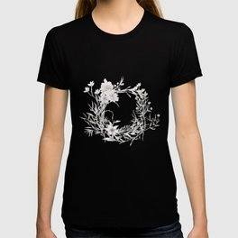 Spun Cotton Floral Wreath T-shirt