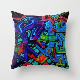 Graffiti Downtown ATL Throw Pillow