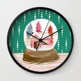 The Snow Globe Cottage Wall Clock