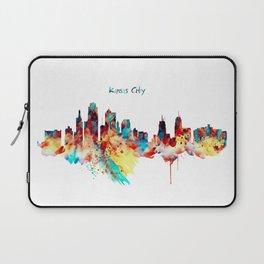 Kansas City Skyline Silhouette Laptop Sleeve