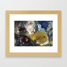 Oil Paint Texture Framed Art Print