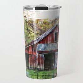 Old painted barn Travel Mug