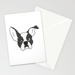 Grumpy Boston Terrier Stationery Cards