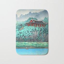 Kawase Hasui - Botan Dai at Ping-Yang - Japanese Vintage Woodblock Painting Bath Mat