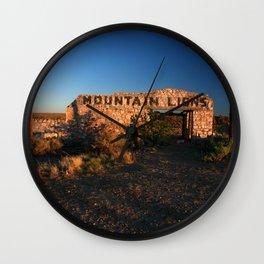 Mountain Lions at Two Guns Wall Clock
