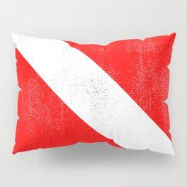 Diver Down Distressed Halftone Denim Flag Pillow Sham