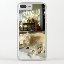 Harvest Pup Clear iPhone Case