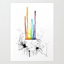 Pride coffee Art Print