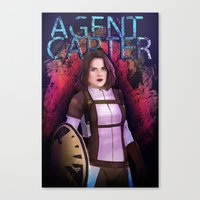 agent carter Canvas Prints featuring Agent Carter. by tantoun