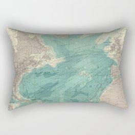 Vintage Map of The Atlantic Ocean (1922) Rectangular Pillow