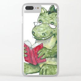Dragon A Book OUt Clear iPhone Case