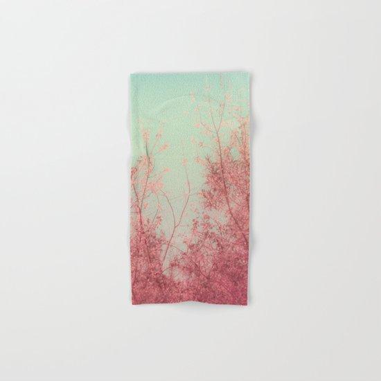 Harmony (Mint Blue Sky, Coral Pink Plants) Hand & Bath Towel