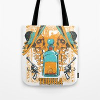 tequila Tote Bags featuring Tequila Duel by Tshirt-Factory
